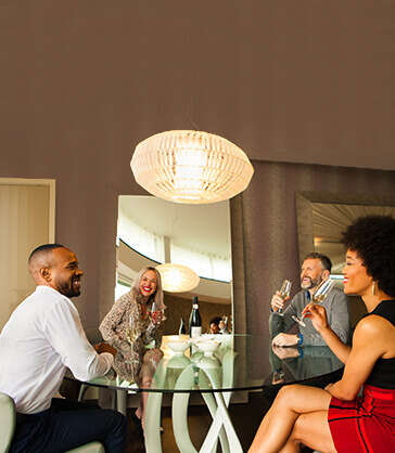 Group in apartment